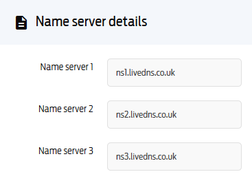 Changing a domain's nameservers