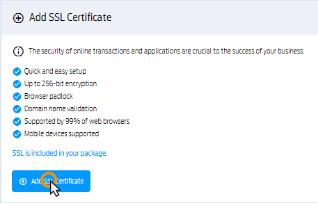 Adding an SSL certificate to Cluster packages