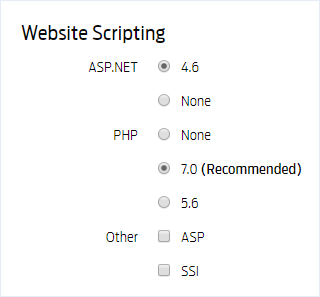 Adding a scripting language to your website