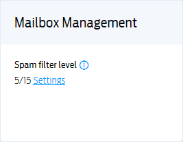 Setting up your mailbox spam filters