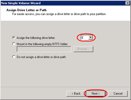 Configuring additional storage space on a Windows 2012, 2016