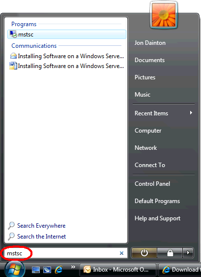 Connect to your server using Remote Desktop Step 2. The Remote Desktop Connection wizard window ...