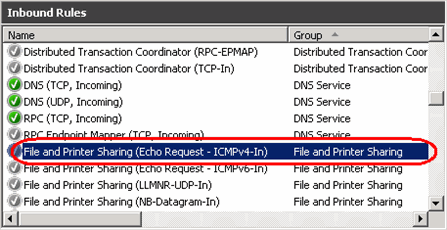 How to allow ping requests on a Windows 2008 server