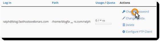 Change password link