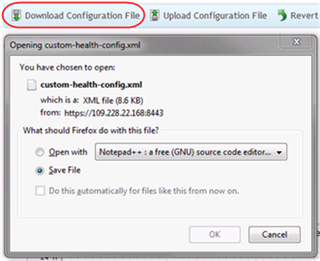 Download health config
