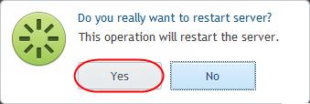 Rebooting a server via Plesk 12
