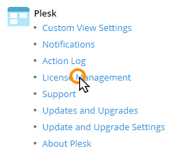 Updating your Plesk Onyx license key