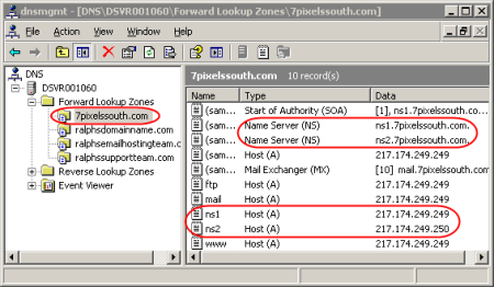Windows Server 2003 - Vanilla Nameserver Discovery