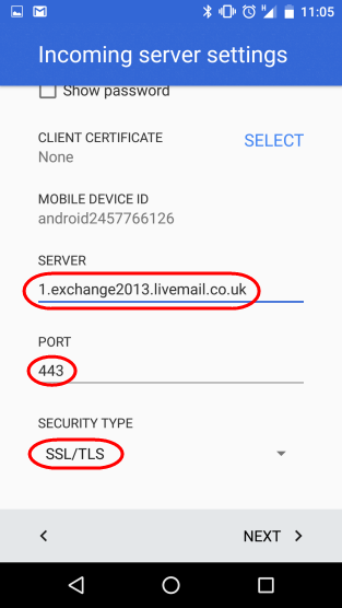 Setting up an Exchange 2013 Mailbox on an Android device