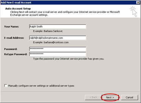 Outlook 2007 setup for Exchange 2013 mailboxes