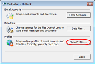 Creating a new email profile in Windows