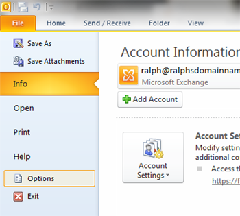 Backup and Restore email's using Outlook 2010