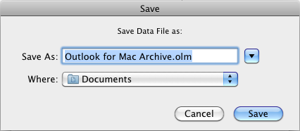 Backup and Restore mailboxes using Outlook 2011 for Mac