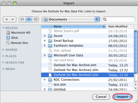 delete identity outlook 2016 mac