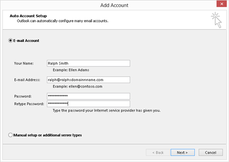 Outlook 2016 Setup for Exchange 2013 Mailboxes