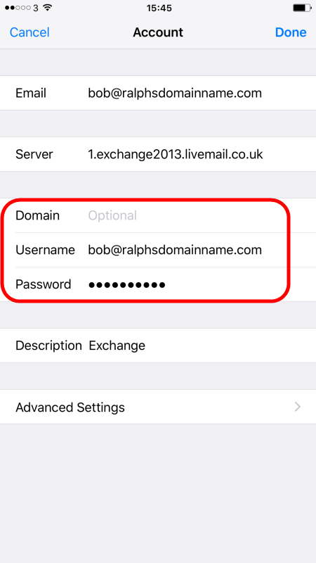 Setting up an Exchange 2013 mailbox on an iPhone or iPad