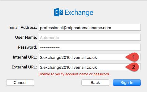 Apple Mail setup (El Capitan) for Professional mailboxes