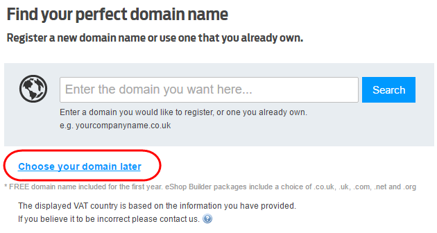 Using a domain with Ecommerce Website Builder