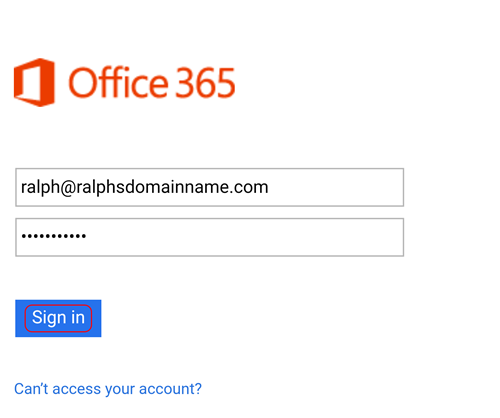 Setting up an office 365 mailbox on an Android device