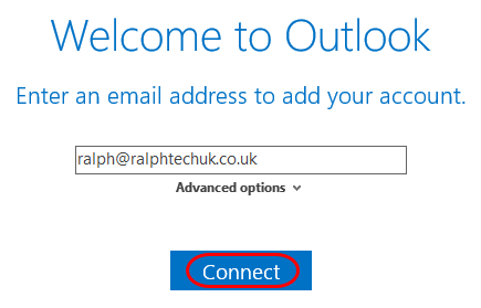 Setting up your Office 365 mailbox in Outlook 2016