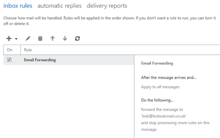 Forwarding email from an Exchange 2013 mailbox